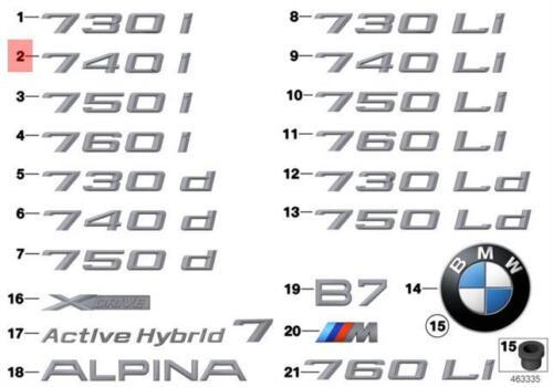 Genuine BMW F01 F01N Trunk Lid 740i Emblem Badge Logo Sign OEM 51147187123