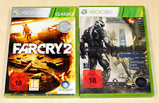 2 XBOX 360 SPIELE SAMMLUNG FAR CRY 2 & CRYSIS 2 LIMITED EDITION - EGO SHOOTER