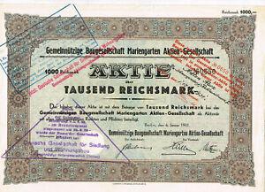 Gemeinnuetzige-Baugesellschaft-Mariengarten-AG-Berlin-1931-1000-RM-VF-s