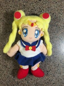 Sailor-Moon-Sailor-Moon-2000-Bandai-10th-anniversary-Plush-Bean-Bag-7-034-RARE