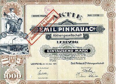 !! Emil Pinkau Ag Leipzig 1921 !!top Deko!! Perfekte Verarbeitung