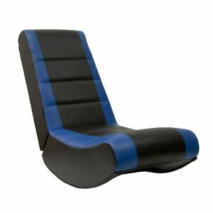 Astonishing Details About X Rocker Gaming Chair Black And Blue No Sound System G76 Squirreltailoven Fun Painted Chair Ideas Images Squirreltailovenorg