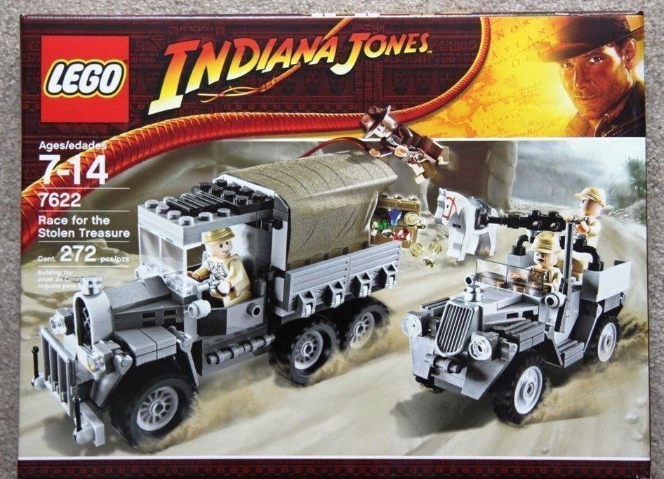 Lego Indiana Jones Race for Stoden Treasure nuovo Sealed (272PCS)