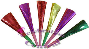 HOLOGRAPHIC-PARTY-HORNS-X24-PARTY-BLOWERS-PARTY-BAG-FILLERS-FAVOURS-NOISEMAKERS