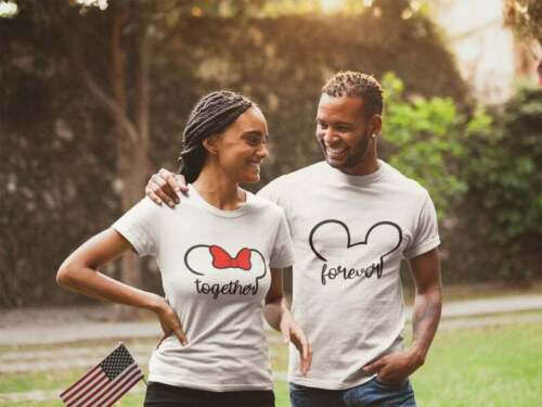 Disney Vacation T-Shirts Details about  /Couples Mickey Minnie Together Forever T-Shirts