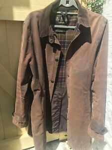 Ladies-Brown-Wax-Barbour-Jacket-Size-16