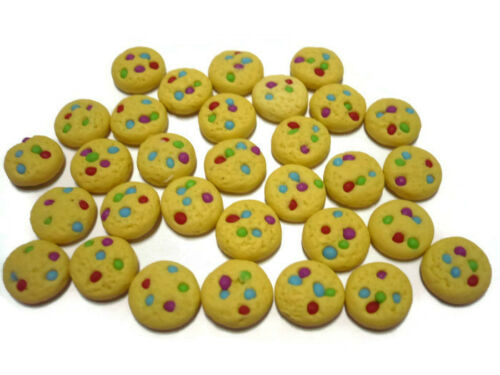 20 Loose Rainbow Candy Cookies  Dollhouse Miniatures Food Bakery Supply Deco