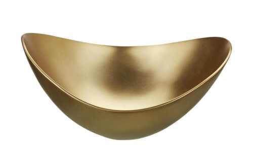 Deko Schale Gold Metall  Industrial  26,0cm x 26,0cm Tischdekor