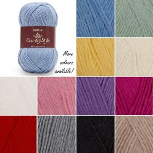 Sirdar-Country-Style-DK-Double-Knitting-Yarn-Knit-Crochet-Crafts-50g-Ball-Wool