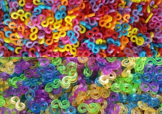 100pcs Assorted S-Clips For DIY Rainbow Loom Rubber Bands Bracelet Making Tools