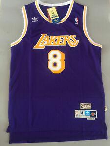 New #8 Kobe Bryant Los Angeles Lakers Purple Throwback Swingman ...