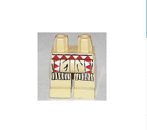 LEGO Hips and Legs with Western Indians Red//White Triangles Fringe Pattern