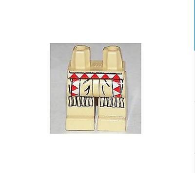Lego Tan Hips and Legs with Red and White Checkered Apron Pattern
