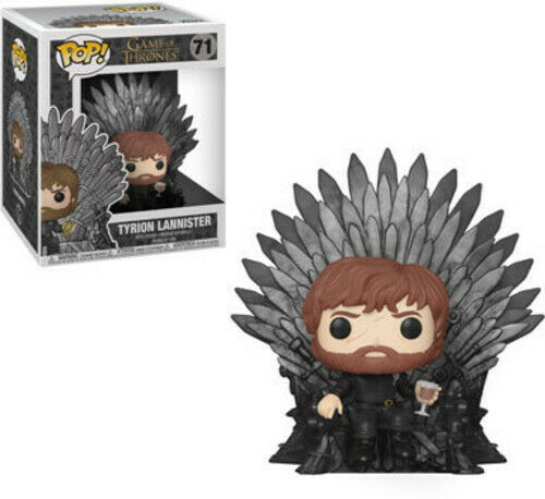 Game Of Thrones - Tyrion Sitting On Iron Throne - Funko Pop! Deluxe: (Toy New)