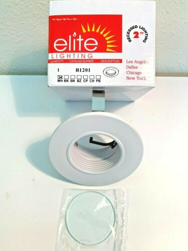 "Elite Lighting B1201W-WH 2/"" Recessed Lighting Trim WHITE"