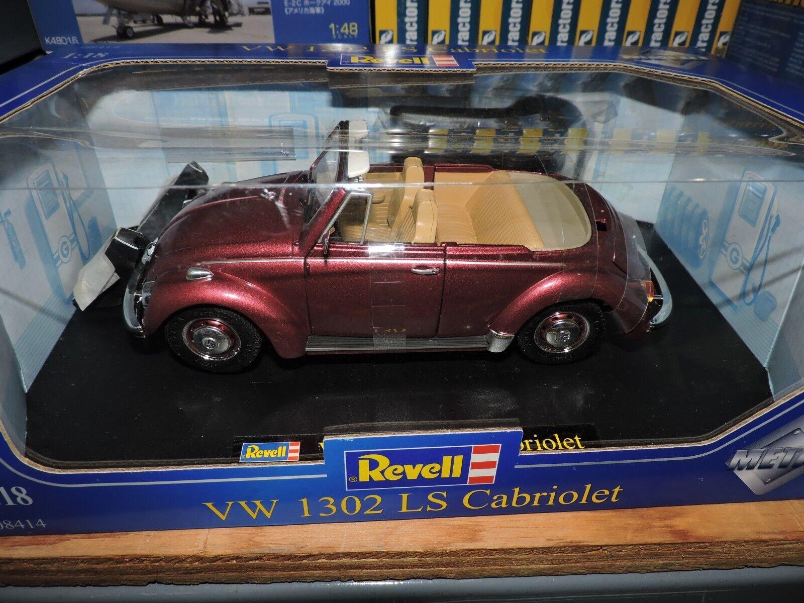 Revell 1 18. Scale pressure  cast Vw-1302 LS Cabriolet Cabrio  08414  est réduit