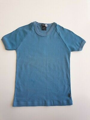 Bonds Tween Kids Childrens Short Sleeve Logo Crew Tee T Shirt size 14 Blue