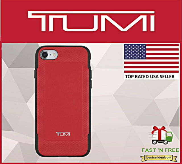 Tumi Leather Case Cover Red Apple iPhone 7 & iPhone 8 TUIPH-024-LRED