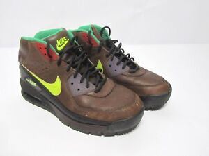Details about *RARE*NIKE AIR MAX 90 Men's size 7 SNEAKER BOOTS BROWN  LEATHER 316339-271