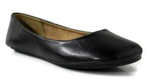 Womens-Ballet-Flat-Comfort-Classic-Slip-On-Ballerina-Shoes-Black-Size-12-NEW
