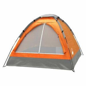 Two Person 2 Man Orange Tent Carry Bag Kids Adult Camping Easy Assembly