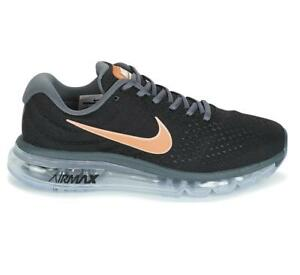 reputable site 981ce 736c0 Image is loading Womens-NIKE-AIR-MAX-2017-Black-Running-Trainers-