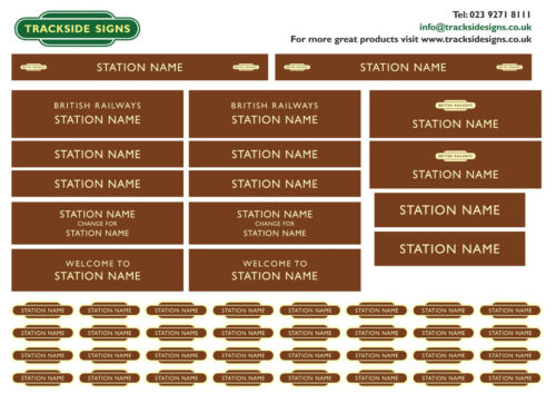 British Railways Western Region Model Railway Station Name Signs O Gauge 7mm