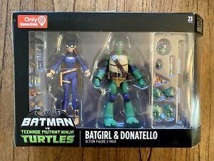 Batgirl-amp-Donatello-Batman-vs-TMNT-Ninja-Turtles-Figures-Set-NIB-New-DC-Gamestop