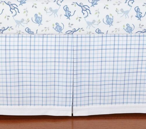 New /& Sealed Pottery Barn Kids Daniel Plaid Crib Bedskirt Bed Skirt Fast Ship!