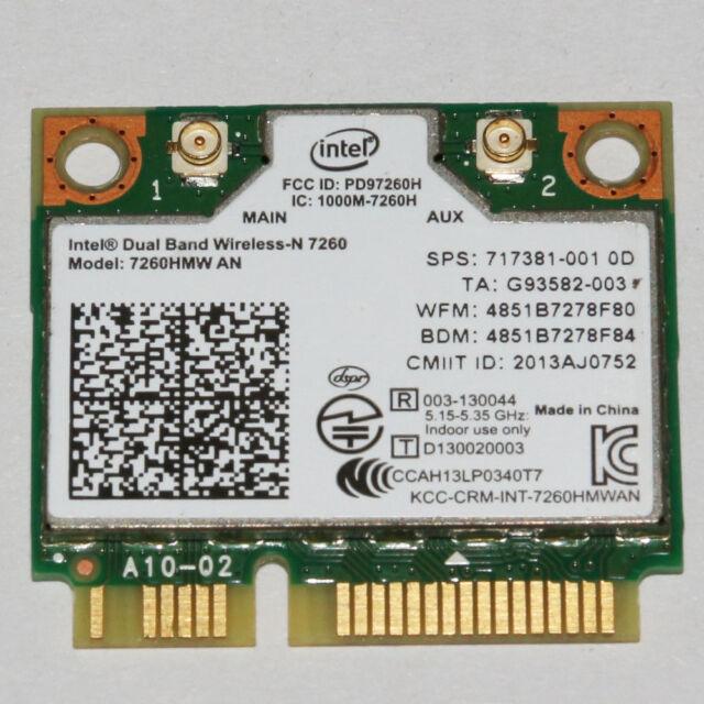 HP SPS 717381-001 Intel Dual-Band Wireless-N 802.11a/b/g/n 2x2 WiFi and BT4.0