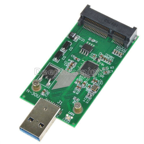 Data Transmission Link Adapters USB3.0 to mSATA Adapter Card NEW