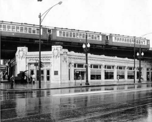 Photo Illinois Chicago 1958-9 Uptown Station W on Wilson