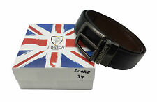 Banana Republic Mens Black and Brown Genuine Leather Reversible Belt 36W 8463-3