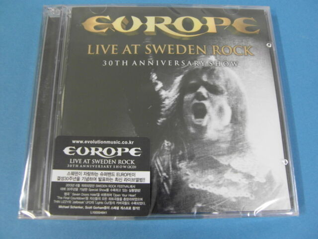 EUROPE - LIVE AT SWEDEN ROCK : 30TH ANNIVERSAY SHOW [2 CD] (SEALED) $2.99 S&H