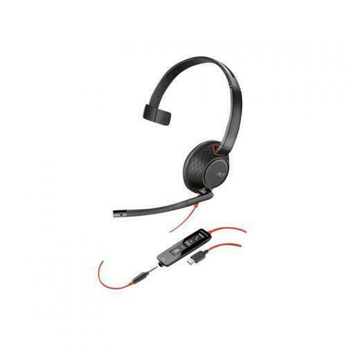 Plantronics Blackwire 5210 Over the Ear Cable Black Headset (Monaural, USB-C)
