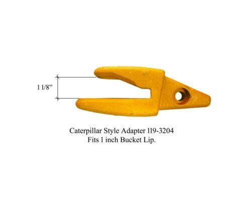 """1U-3202WTL 119-3204 4 CAT J200 Style Backhoe Bucket Shanks 1/"""" Lip Rock Teeth"""