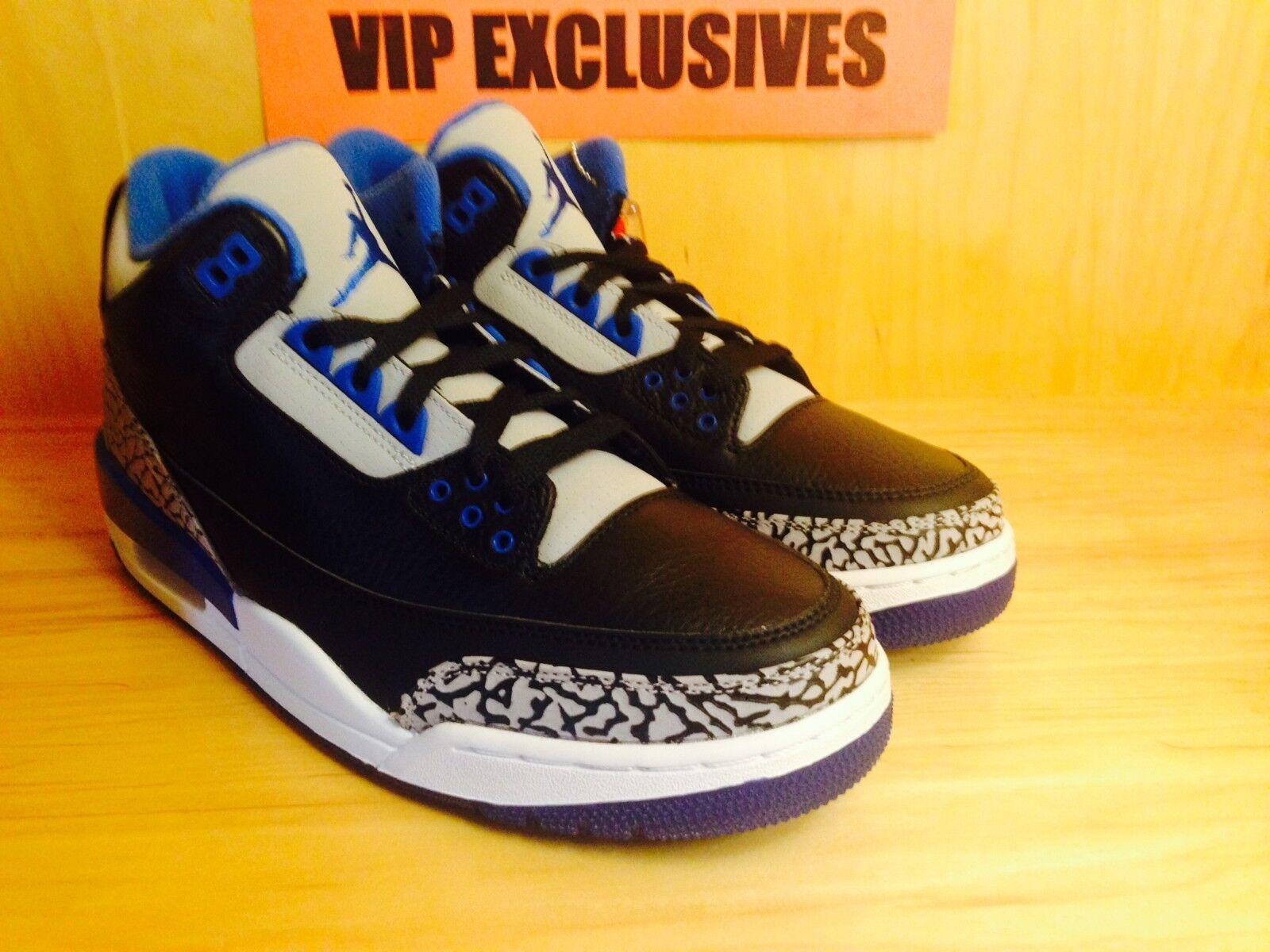 Jordan 3 retro - iii - sport blau - blau sport - schwarz 398614-007 d16470