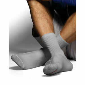 Hanes Classics Men's ComfortSoft Crew Socks Black 6-Pack