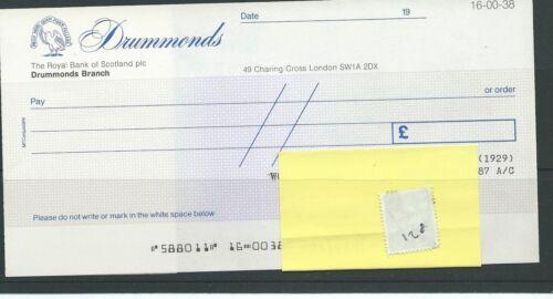 wbc. - CHEQUE - UNUSED - CH128 - 1980's - RBS - DRUMMONDS BRANCH. LONDON +c'foil