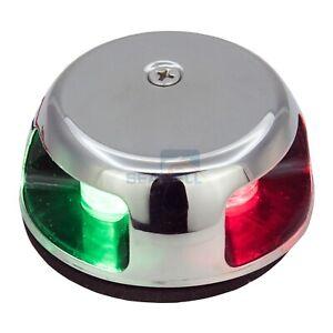 12V LED Navigation Side Lamp Boat Marine Yacht Bi-Color Green Red Bow Zinc Alloy Signal Light