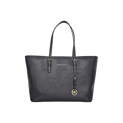 Michael Kors Jet Set Multifunction Tote Handbag in Black