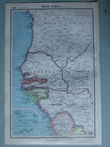 Map Of Africa Senegal.Details About 1952 Map West Africa Senegal Gambia Portuguese Guinea Cape Verde Islands