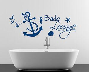 Amazing Das Bild Wird Geladen Wandaufkleber Wandtattoo Badezimmer Anker Seil Bad  Seepferd Stern
