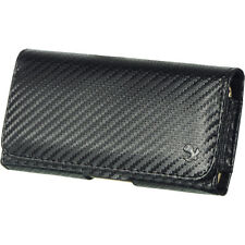 Carbon Fiber Leather Pouch Holster Belt Clip for Samsung Galaxy NOTE 2 3 4 EDGE