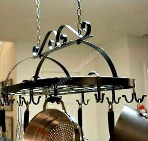 Iron Hanging Pot Holder Pan Hanger Kitchen Storage Utility