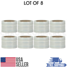 80 Gauge Self Adhering Amp Hand Stretch Wrap Roll Size 3 X 1000 Ft 8 Pack