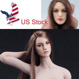"US 1//6 Blond Hair Girl Female Head Sculpt Fit 12/"" Phicen women Figure Body"