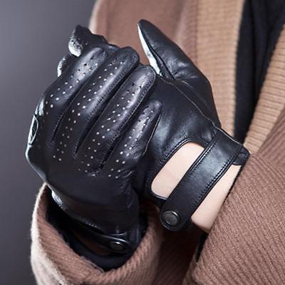 separation shoes b7675 78d1d Herren Lederhandschuhe gefütterte Handschuhe echtes Leder ...