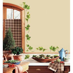 Details zu 26 Wandsticker Wandtattoo Efeu Efeuranken Fliesen Küche Wand  Deko selbstklebend
