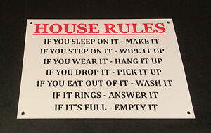 Funny House Rules For Guests